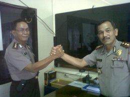 Akbp Mulyadi SH dan Akbp Marshudi Salam Komando saat Serah Terima Jabatan
